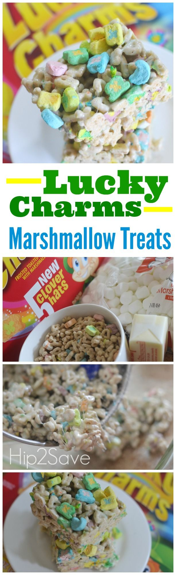 Lucky Charms Marshmallow Treats (Only 3 Ingredients) - brought to you by @Collin Morgan @Hip2Save