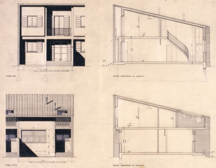 Casa ad alloggi duplex e insulae 1951 1955 luigi figini for Casa borsalino gardella