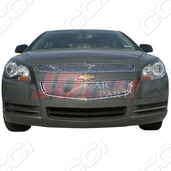 2008-2012 Chevy Malibu (LS / LT / LTZ) Chrome Grille Overlay (Top+Bottom) - Malibu - Chevrolet