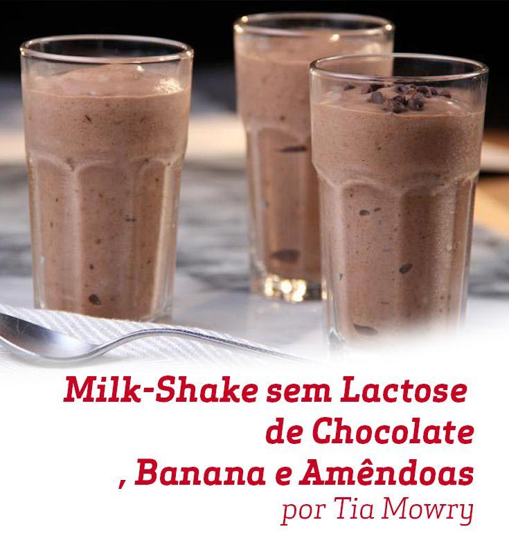 Esta receita de Milk Shake sem Lactose de Chocolate, Banana e Amêndoas é super inovadora e, claro, uma delícia! Experimente!