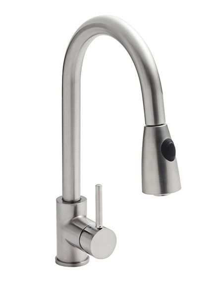 Finishes Brushed Steel. Water Pressure HP1 - 1 bar pressure minimum. Standards Complies with BS5412, EN20. CERAMIC DISC TECHNOLOGY. Suitable for use with flow regulators.