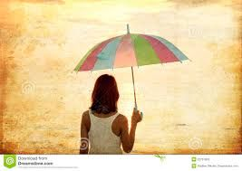 Znalezione obrazy dla zapytania dziewczyna z parasolem