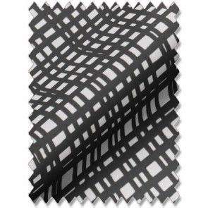 Crosshatch Black Roman Blind