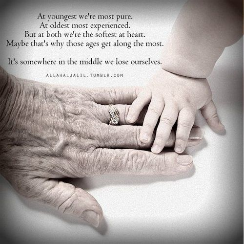 This is why we respect our elders, and protect our youngers. They are the softest at heart and need care the most.♡