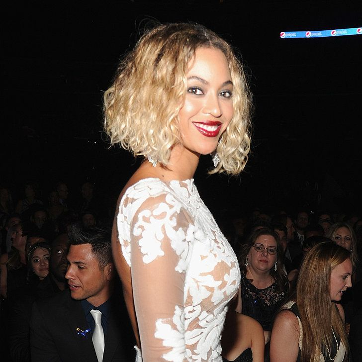 Beyoncé's blonde bob and red lipstick at the Grammys