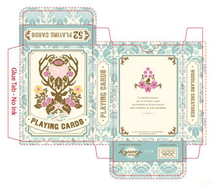 Beautiful playing card box printable. hello lucky. I love cards, the colors of this box, and ANTLERS!