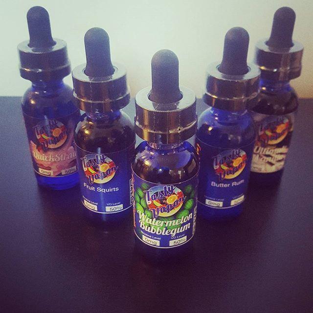 The Tasty Vapor range available online @vaporaecigs #ejuice #vapetherainbow @tasty_vapor