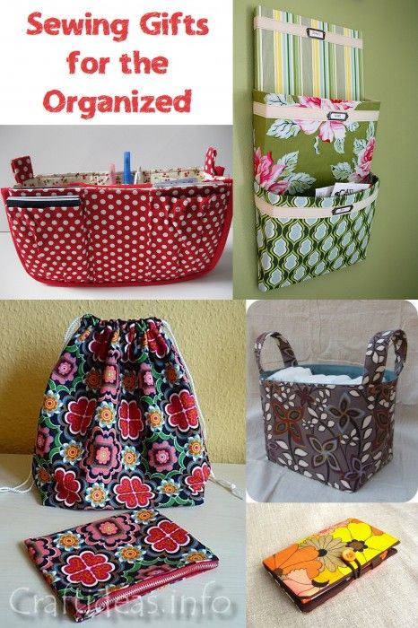 Help maintain order and reduce clutter in your home, office, car, handbag and more! These tutorials will get you started! - Gifts for the Organizer | http://fabricshopperonline.com/a-week-of-handmade-gift-tutorials-for-the-organizer/