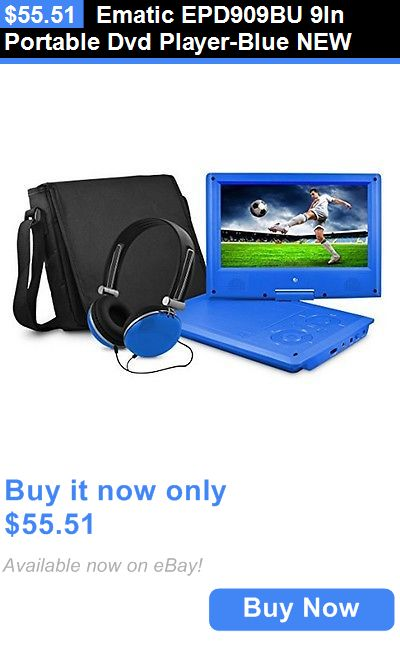 DVD and Blu-ray Players: Ematic Epd909bu 9In Portable Dvd Player-Blue New BUY IT NOW ONLY: $55.51
