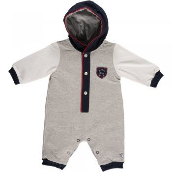"Emile et Rose goes sporty with this hooded All in One ""Elijah"" from Emile et Rose"