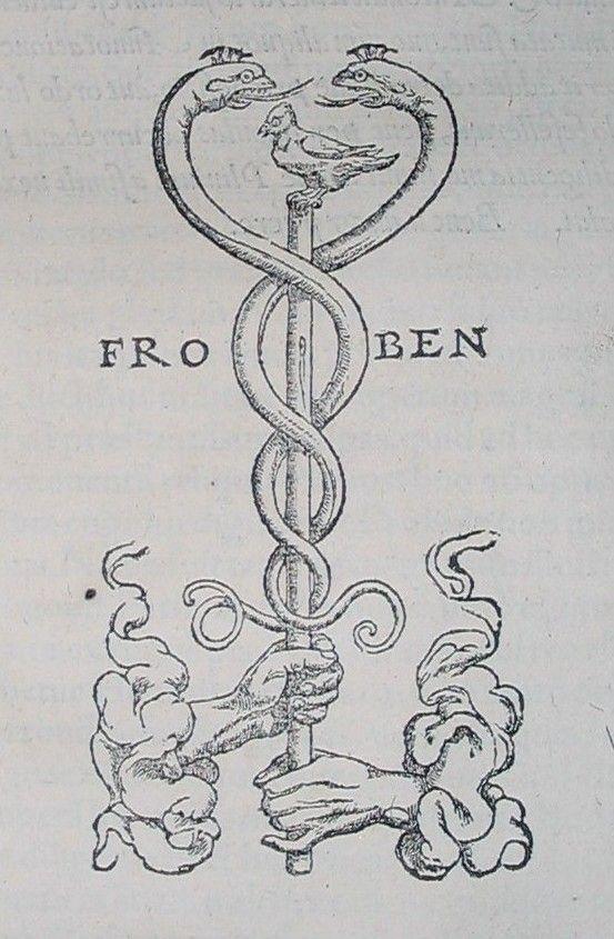 Johann Froben's printer's symbol - Caduceus as a symbol of medicine - Wikipedia, the free encyclopedia
