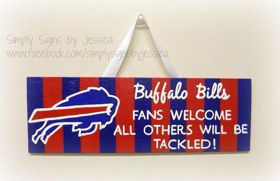 Hand painted wooden sign Buffalo Bills or any by SimplySignsByJess, $30.00
