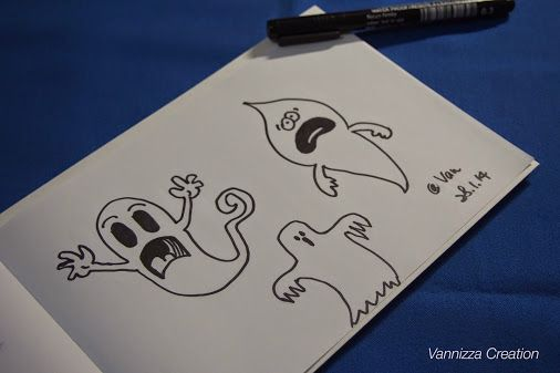 Vannizza Creation - Photos - Google+ Cute Ghost!  #doodle #drawing #fineliner #ghost #vannizzacreation
