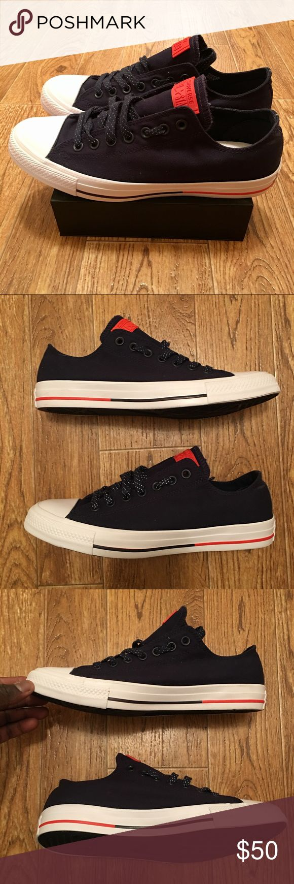 [Converse] Brand New Chuck Taylor All Star Navy Brand new Chuck Taylor All Star sneakers Navy Blue/White/Red. Men's Size 9 Converse Shoes Sneakers