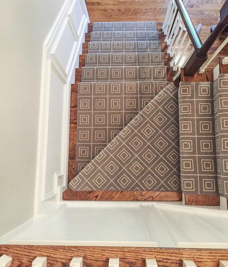 horace a simple yet stunning wool design makes for a great geometric stair runner by