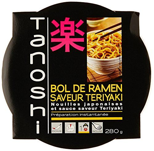 Tanoshi Bol de Ramen Teriyaki 280 g: Les nouilles instantanées Sans glutamate ajoute 1 Personne Cet article Tanoshi Bol de Ramen Teriyaki…
