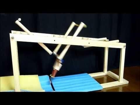 空中ブランコロボット(3列試作品) - YouTube