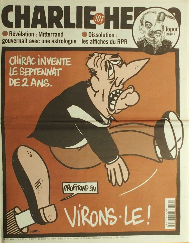 Charlie Hebdo - # 253 - 23 Avril 1997 - Couverture : Charb