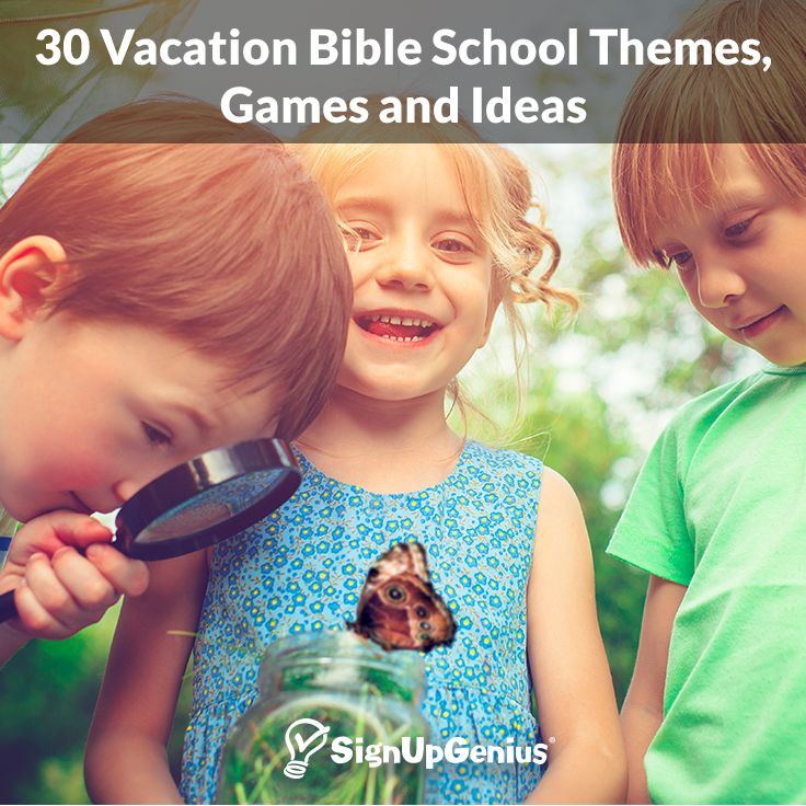30 Vacation Bible School Themes, Games and Ideas. Plan a fun and meaningful week at church with these tips, lesson plans and resources.