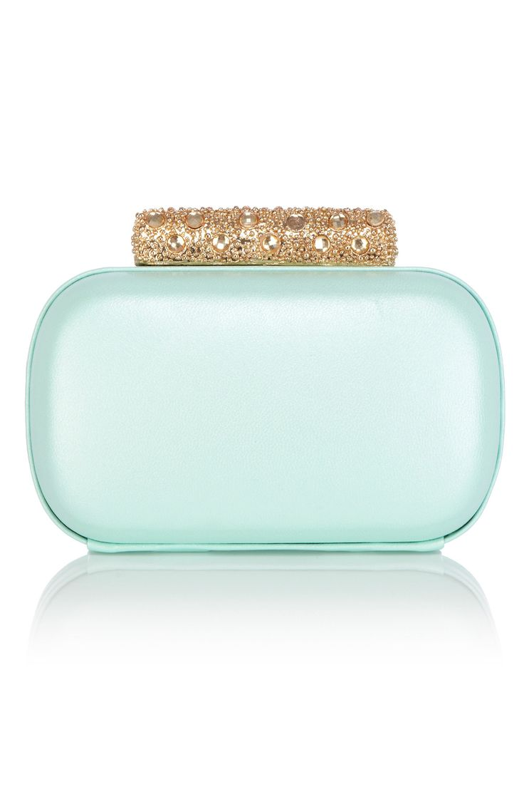 Coast Clutch £75 The minaudiere is the evening clutch of choice - we love the mix of pastel leather and gold hardware!