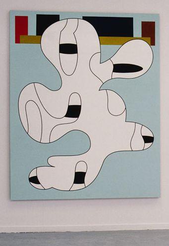 Olivier Gourvil, Roxy, 2002, oil and acrylic on canvas, 167 x 260 cm