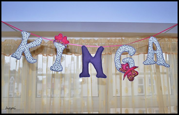 fabric letters great idea to decorate any kids room https://www.facebook.com/hapi62