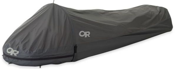 Outdoor Research's Helium Bivy is the perfect emergency shelter for trips into the backcountry. It weighs only 18 oz. and is fully waterproof and breathable. LX