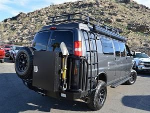 Chevy Express van with Aluminess bumpers, ladder and roof rack, deluxe box, expediton kit...Jessop Chevrolet/SMB forum