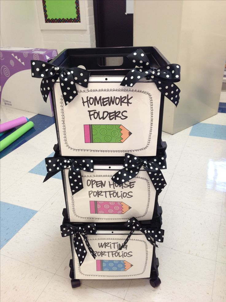 Polka Dot Classroom Filing System - perfect for homework folder, portfolios, and papers to go home.