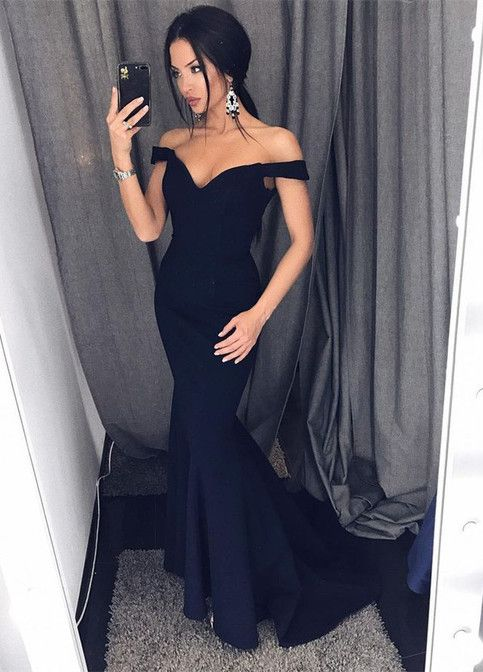 b6b74edb20 Sexy Leg Slit Long Mermaid Evening Dress Off Shoulder Prom Gowns Black Prom  Dresses This dress could be custom made, there are no extra cost to do  custom ...