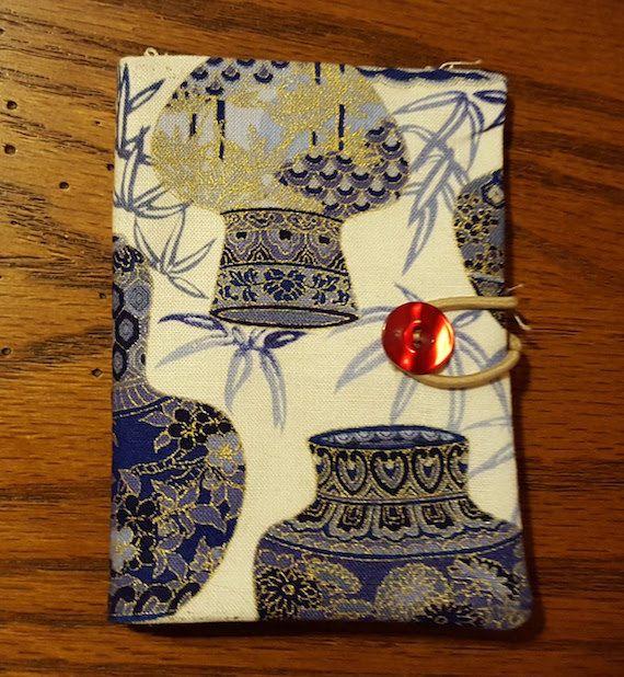Asian Pots Pottery Fabric Tea Bag Holder Storage Favor Wallet Caddy Tea Party Favors Bridal Shower Wedding by PandorasPurses on Etsy