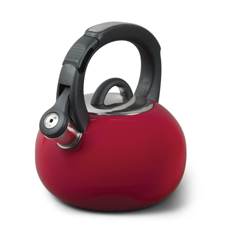 Mr. Coffee Piper Shine 2qt Stainless Steel Tea Kettle- Red