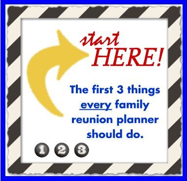 I've never thought of family reunion planning like this before. These really are the first things to do - AND the most important!