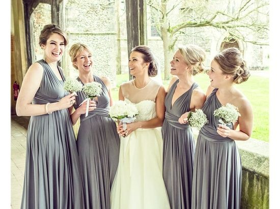 twobirds Bridesmaid | Gallery - like the little bouquets and the two birds wrap dresses.