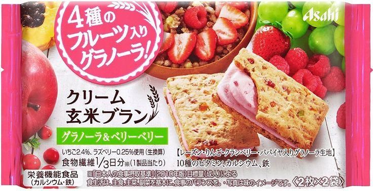 Amazon | アサヒグループ食品 クリーム玄米ブラン グラノーラ&ベリーベリー 72g×6袋 | クリーム玄米ブラン | 栄養補助スナック 通販