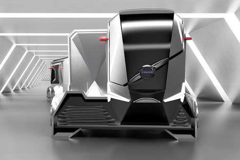 Модульные Электромагнитные Судоходные Грузовые автомобили - Вольво автономный Прицеп AT404 Грузовой автомобиль умный
