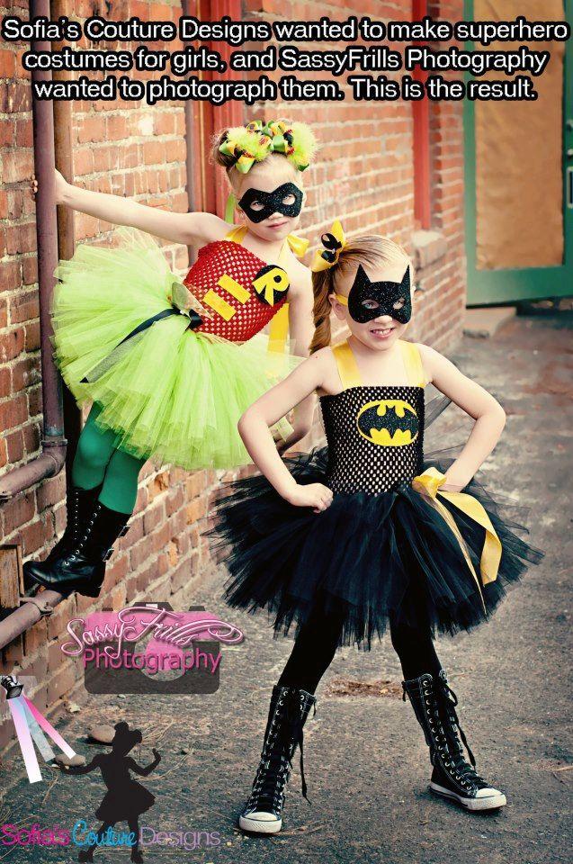 Batman and Robin tutu costumes