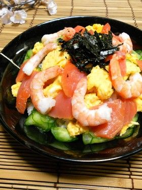 スモークサーモンチラシ寿司