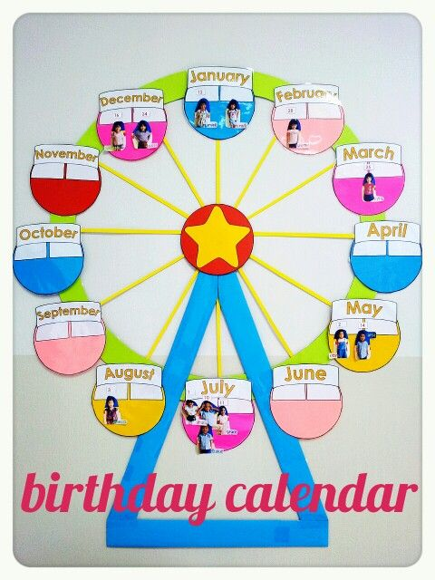 birthday chart template for classroom - birthday chart carninal theme classroom decoration