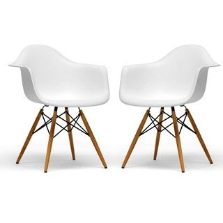 $187 for 2 Retro-classic White Accent Chairs (Set of 2) | Overstock.com