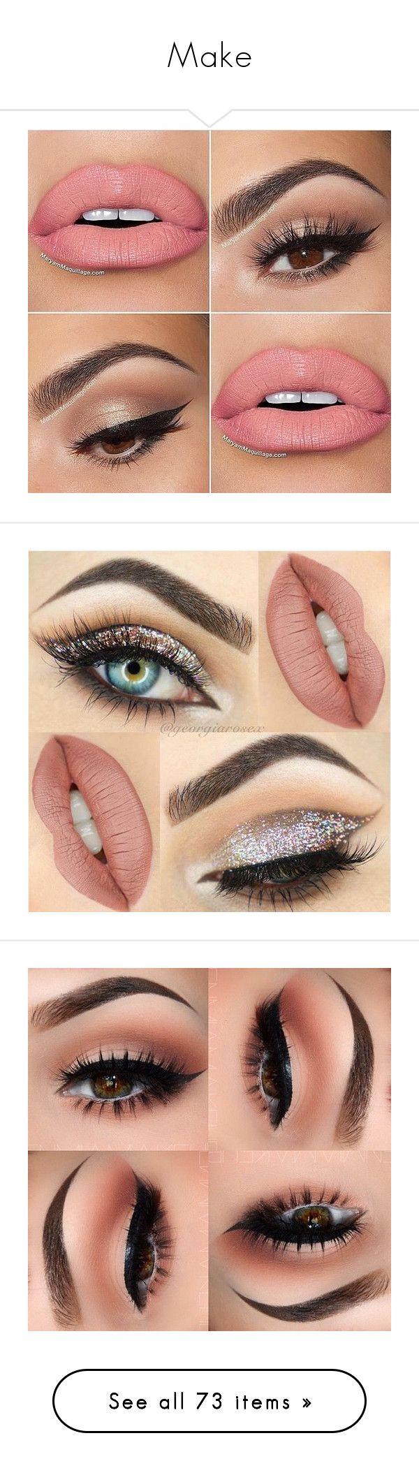 """Make"" by gabriel-sampaiooo on Polyvore featuring beauty products, makeup, lip makeup, eyes, lip, make, lips, beauty, eye makeup e filler"