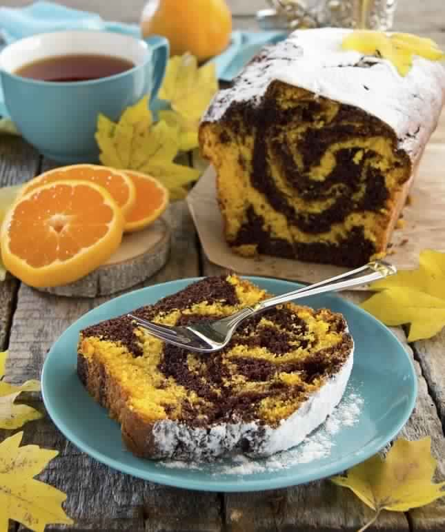 gateau marbré orange chocolat1