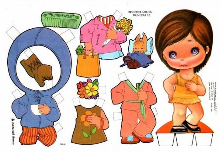 12* For lots of free Christmas paper dolls International Paper Doll Society #ArielleGabriel artist #ArtrA thanks to Pinterest paper doll & holiday collectors for sharing *