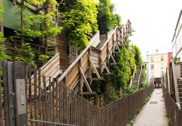 20ème arrondissement : Jardin d'Eden rue des Vignoles