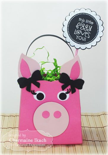 This Little Piggy Treat bag by Charmaine Ikach #EatsandTreats, #ValentinesLove, #SackIttoYou