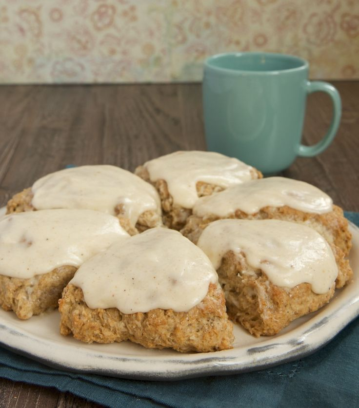 Spiced Oat Scones with Brown Butter Glaze are a perfect choice for a special morning treat! - Bake or Break