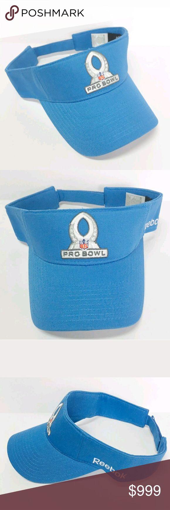 New NFL Pro Bowl 2011 Trophy Visor Hat Cap NFL PRO BOWL 2011 Trophy Visor Hat  CONDITION:New Size:One Size Color:Blue  PRODUCT DETAILS:  Unisex Adult Velcro Adjustable strap Front embroidered NFL trophy logo NFL Accessories Hats
