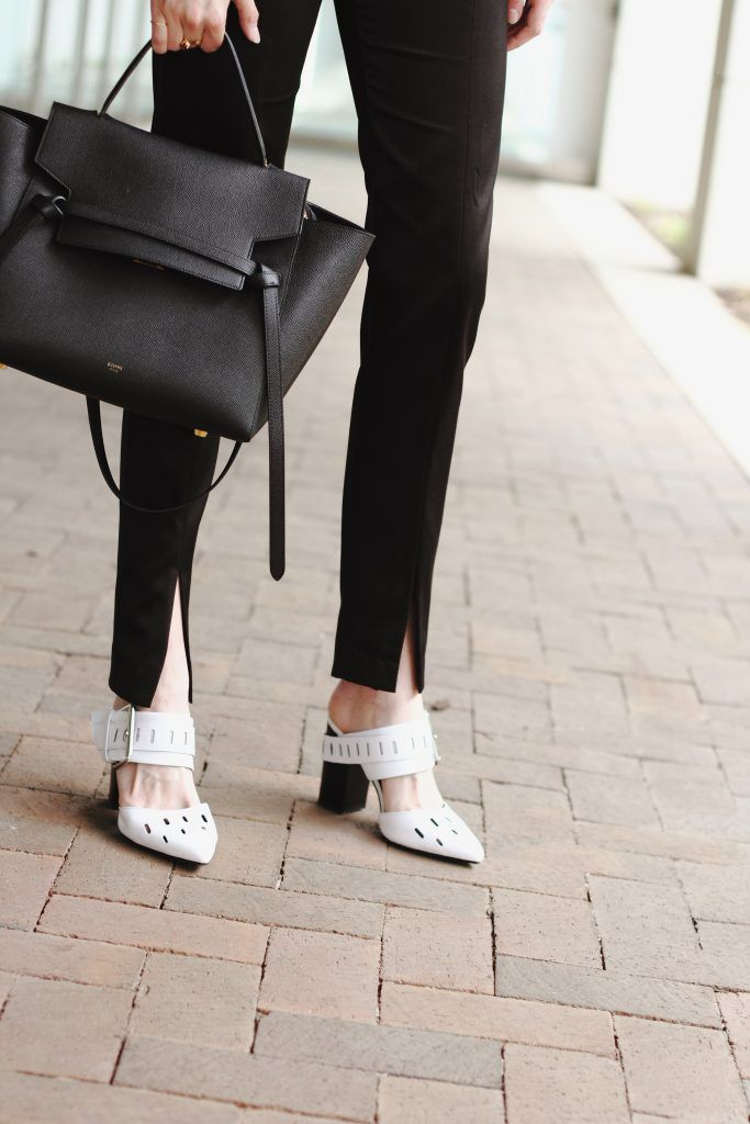 Celine bag and white mules