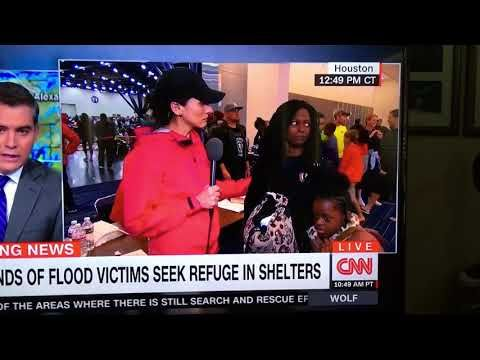 Mother Goes Off on CNN Reporter at Houston Shelter for Putting 'Microphone in My Face
