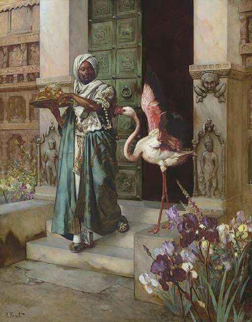 Entering the Palace Gardens  Rudolf Ernst (14 February 1854, Vienna - 1932, Fontenay-aux-Roses)  Austro-French painter